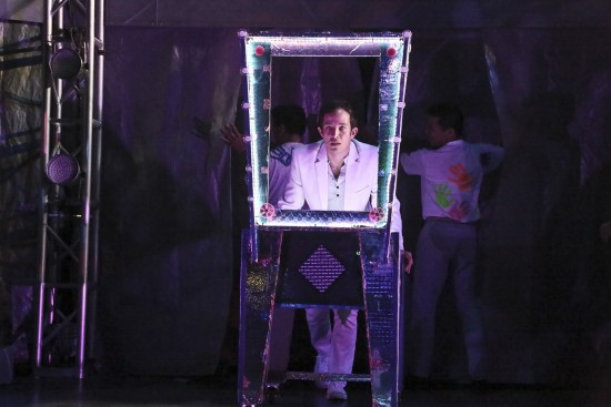"""Tommy (Joseph Morales) is the Pinball Wizard in the East West Players production of """"The Who's Tommy."""" (Photo by Michael Lamont)"""