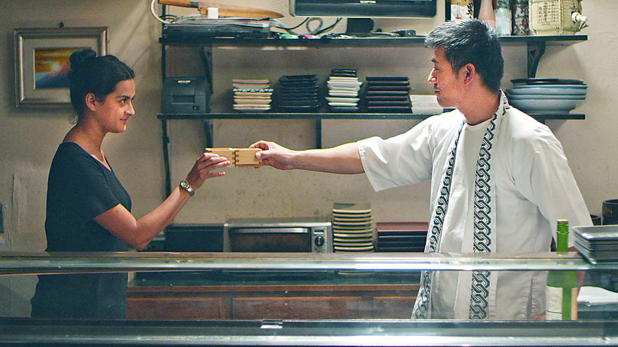 "Diana Elizabeth Torres and Yutaka Takeuchi star in the cross-cultural drama  ""East Side Sushi,"" screening this Saturday and next Wednesday at the Regal Cinemas at L.A. Live."