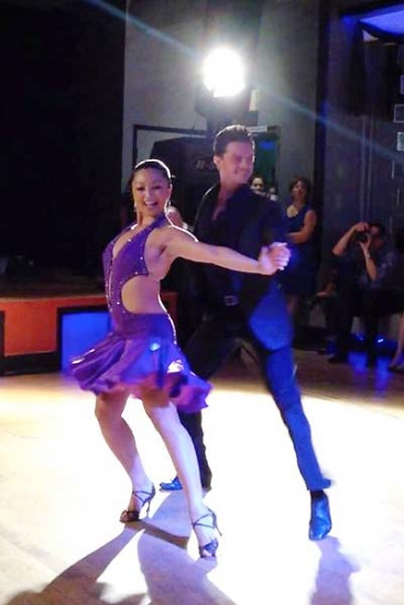 Marisa Hamamoto and her dance partner, Brian Fortuna. (Photo courtesy of Marisa Hamamoto)