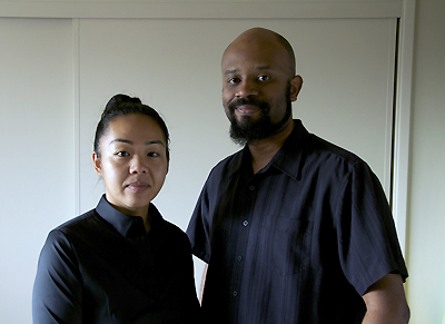 "Landis Stokes, the writer and director of ""American Hikikomori,"" and his wife, Kana. (Photo courtesy of Landis Stokes)"