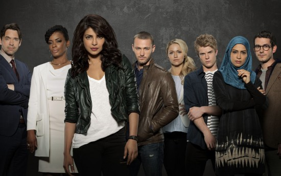 The cast of ABC's Quantico, starring Priyanka Chopra.