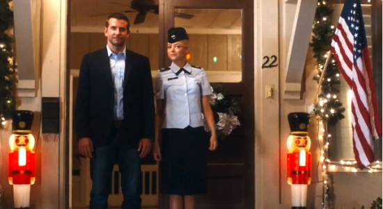 """Bradley Cooper and Emma Stone in a scene from """"Aloha."""""""