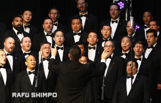 The Gay Men's Chorus of Los Angeles performs.