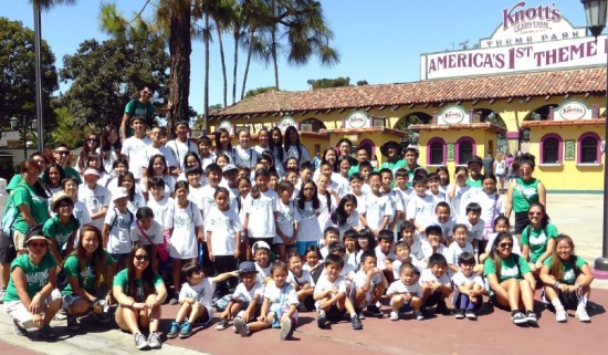 Kids spend the day at Knott's Berry Farm as part of the Summer Exploration program at Montebello Plymouth Congregational Church.
