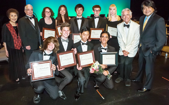 Young musicians are awarded the Kay Sakaguchi Youth Scholarships.