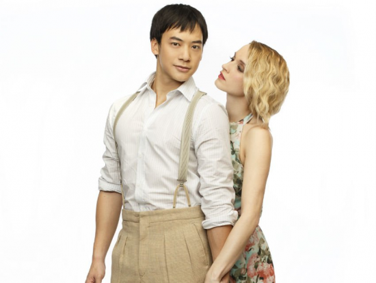 """Bie Sukrit and Emily Padgett star in """"Waterfall.""""  (Photo by Joan Marcus)"""