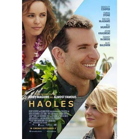 "Parody movie poster for ""Aloha"" called ""Haoles."""