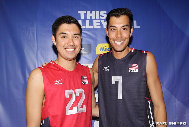 兄弟揃って代表入りし、リオ五輪を目指すエリック(左)とカウィカ