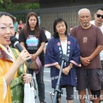 Rev. Miyoshi speaks during the Hatsubon service.