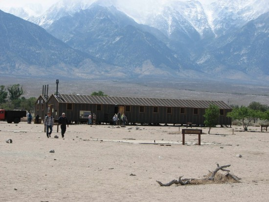 Park rangers will discuss what's new at Manzanar National Historic Site. Pictured are replicas of barracks that opened earlier this year. (J.K. YAMAMOTO/Rafu Shimpo)