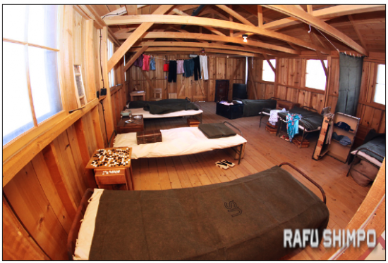 A view of the reconstructed barracks at Block 14. (MARIO G. REYES/Rafu Shimpo)
