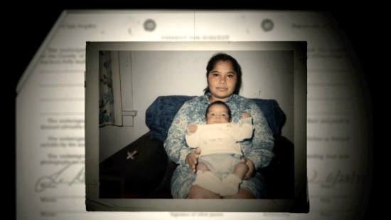 Above and below: Plaintiff and interviewee Maria Figueroa then and now.