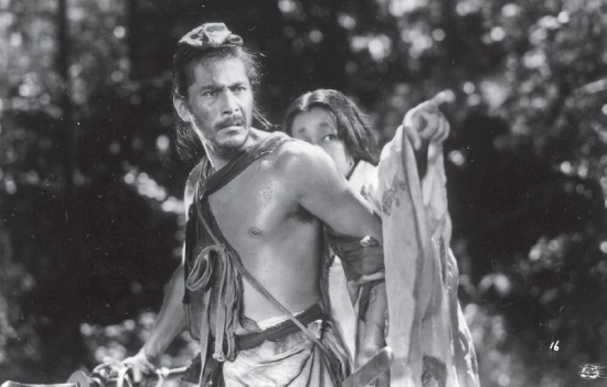 """Toshiro Mifune starred in 16 films directed by Akira Kurosawa, including """"Rashomon"""" (above) with Machiko Kyo. The winner of a Golden Lion at the Venice Film Festival in 1951 and an honorary Academy Award in 1952, """"Rashomon"""" has been called one of the greatest films ever made."""
