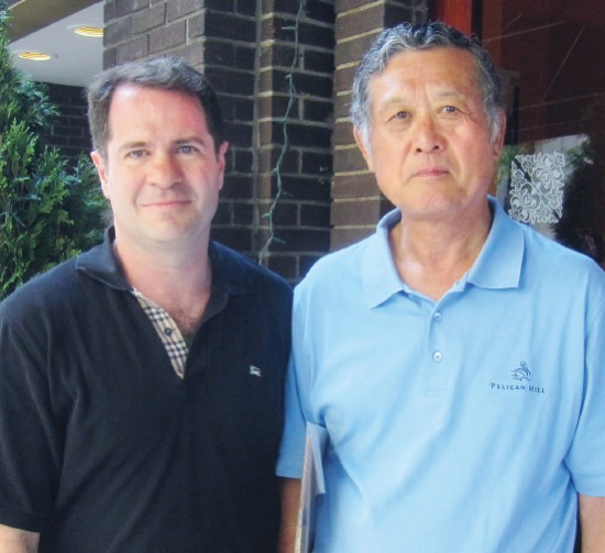 Robert Fitts, pictured with Masanori Murakami in 2013, is a baseball historian whose new book recalls the pitcher's promise and disappointment. (Photo courtesy Robert K. Fitts)