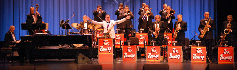 Performers will include the Tex Beneke Orchestra (pictured), the Mills Brothers and Island Crooners.