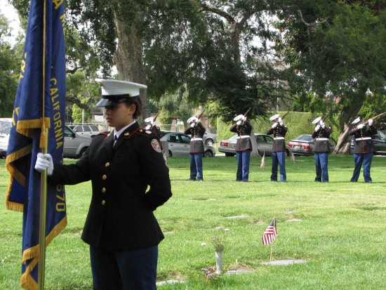Redondo Beach Union High School Marine Corps Jr. ROTC opened and closed the ceremony.