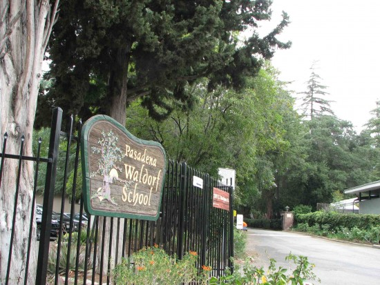 Entrance to Pasadena Waldorf School on Mariposa Street.