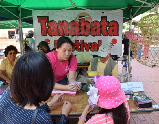 The Tanabata Festival held kazari workshops during the Fiesta Matsuri in May at the Japanese American Cultural and Community Center.