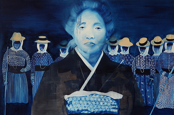 "Laura Kina, ""Issei,"" 2011, oil on canvas"