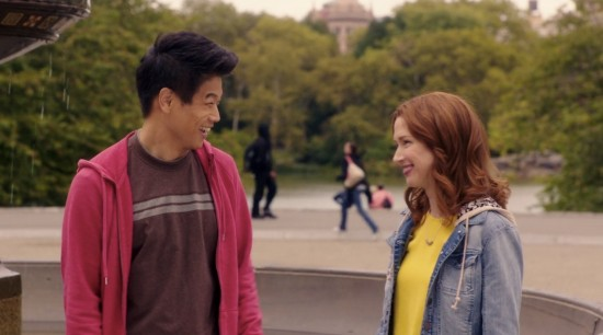 :  Kimmy Schmidt (Ellie Semper) and Dong Nguyen (Ki Hong Lee).