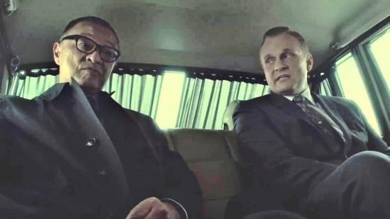 Nobosuke Tagomi (Cary Hiroyuki-Tagawa) in secret meeting with Nazi Captain Rudolph Wegener (Carsten Norgaard).