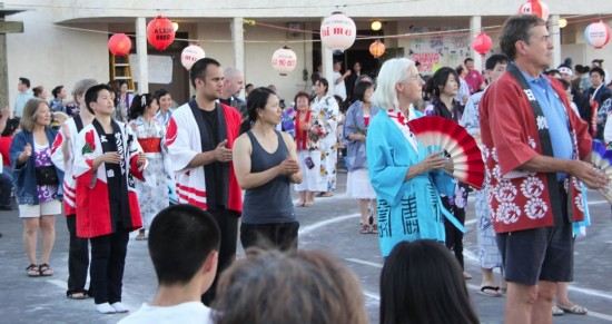 Everyone is invited to take part in the Obon Odori.
