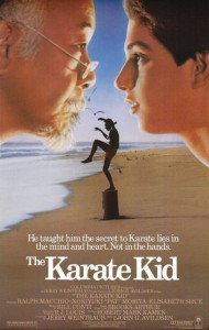 "Poster for the first ""Karate Kid"" movie."