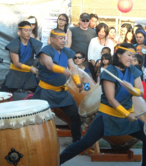 L.A. Matsuri Taiko performing at the 2014 Pasadena Obon.