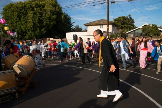 Dancers at Oxnard Buddhist Temple's 2014 Obon Festival.