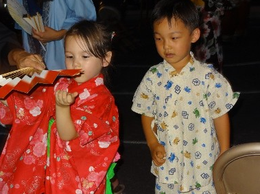 Young dancers at the 2014 Obon Festival.