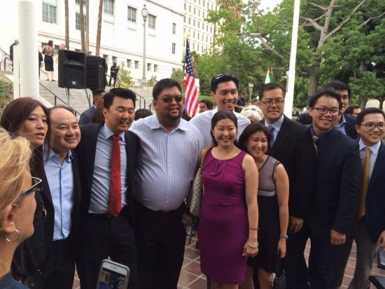 David Ryu was joined by many of his supporters, friends and relatives.
