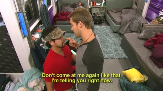 "Clay confronts James on ""Big Brother 17."""