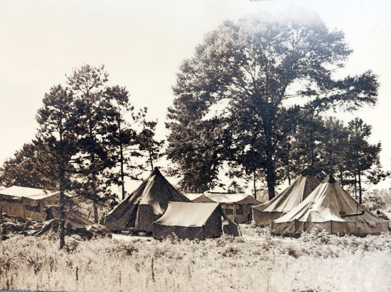 Archive photo shows the tent city in Lowndes County, where blacks for forced to live for over two years when they were evicted from their tenant farms just for exercising their right to register to vote.