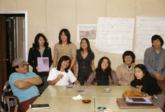 Members of Asian American Student Association in 1974. (Photo by Takashi Fujii)