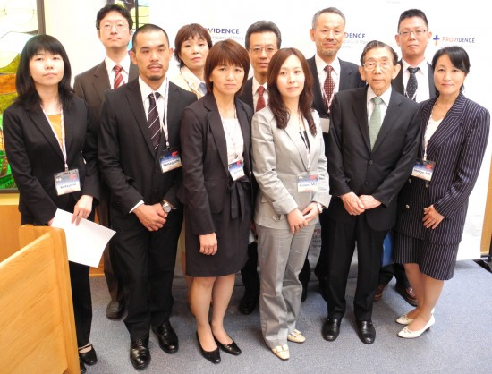 The Hiroshima medical team that came to Torrance in 2011. (Rafu Shimpo photo)