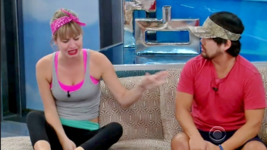 Meg cries, offering herself as a nominee instead of her best friend James.