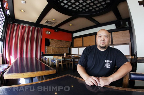 "James Ota has been the owner of Oiwake since 2010. He calls the decision to close the restaurant ""bittersweet."" (MARIO G. REYES/Rafu Shimpo)"