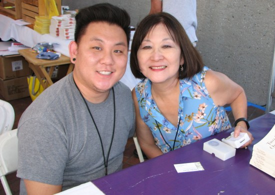 Aiden and Marsha Aizumi (Rafu Shimpo photo)