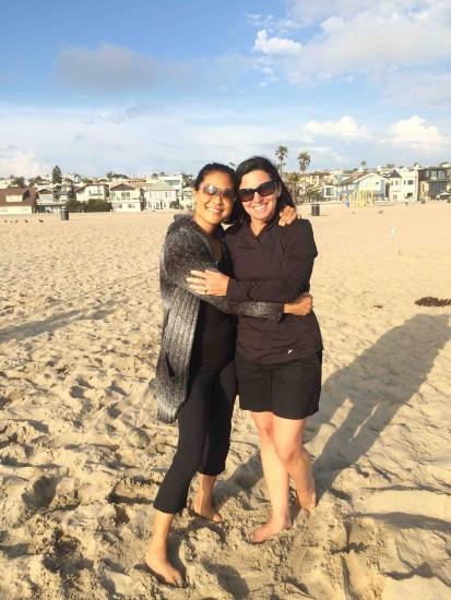 Christine Schneider with her kidney donor, Sally Halpin.