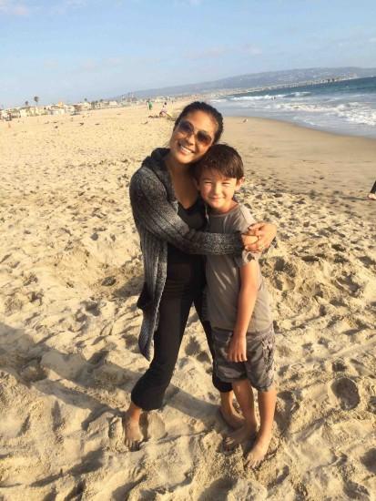 Christine Schneider with her son, Dylan.