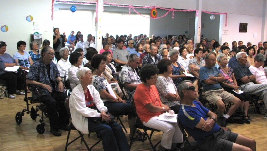 GVJCI's Nisei Veterans Hall was filled to capacity.