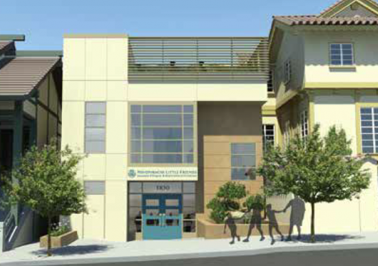 Rendering of the completed addition to NLF's 1830 Sutter St. site.