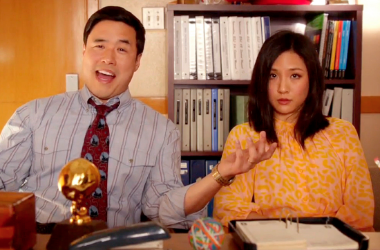 """Randall Park and Constance Wu in """"Fresh Off the Boat."""""""
