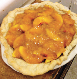 Homemade peach pie.