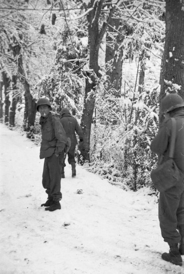 Soldiers in the French Alps, Nice, France, November or December 1944.