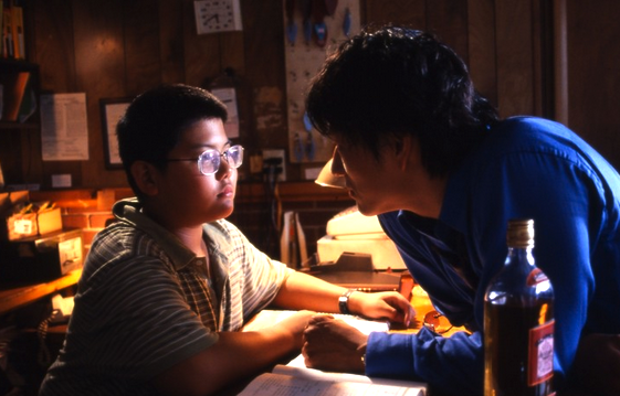 """Ernest (Jeffrey Chyau) and Sam (Sung Kang) in a scene from """"The Motel."""""""