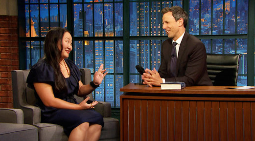 "Hanya Yanagihara on NBC's ""Late Night with Seth Myers."""