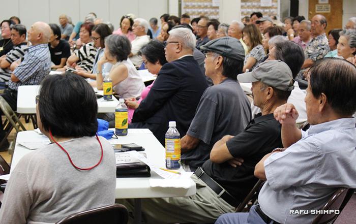 およそ150人が集まった初のコミュニティー集会