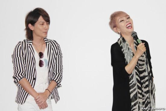 Ryuji Aoki and Naoko Ken speak during Japan Film Festival Los Angeles.