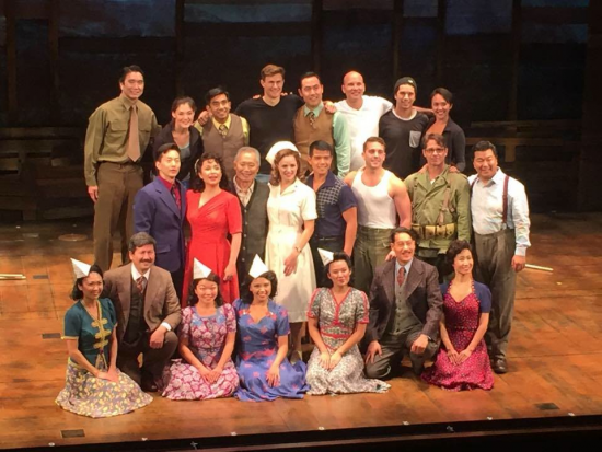 "The cast of ""Allegiance,"" which is currently in previews at the Longacre Theatre in New York."